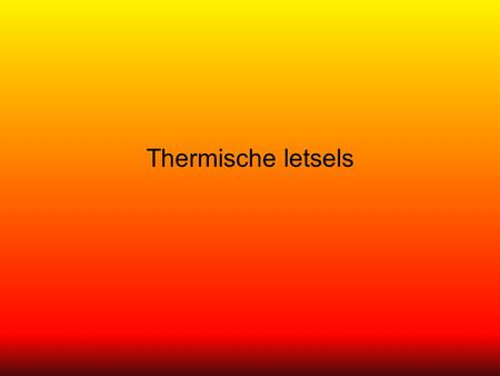 Thermische letsels.