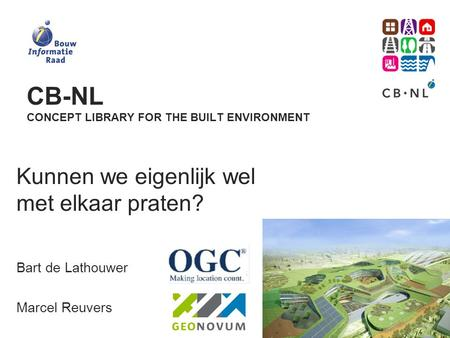 CB-NL concept Library for the built environment