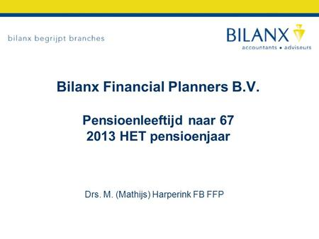 Bilanx Financial Planners B. V