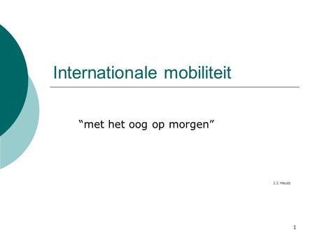Internationale mobiliteit