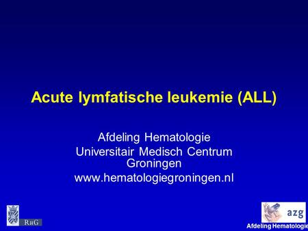 Acute lymfatische leukemie (ALL)