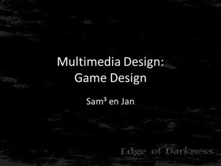 Multimedia Design: Game Design Sam³ en Jan. Inhoud • Game overview • Gameplay • Look & Feel • Setting, story and characters • Levels.