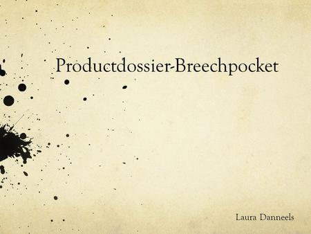 Productdossier-Breechpocket