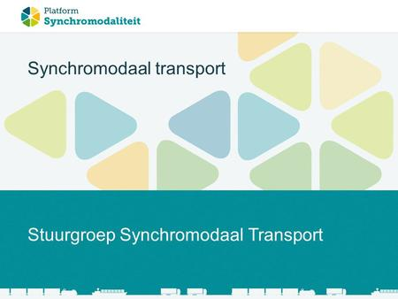 Synchromodaal transport