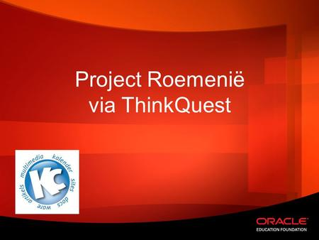 Project Roemenië via ThinkQuest.