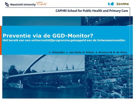 Preventie via de GGD-Monitor?