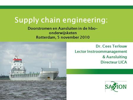 Supply chain engineering: