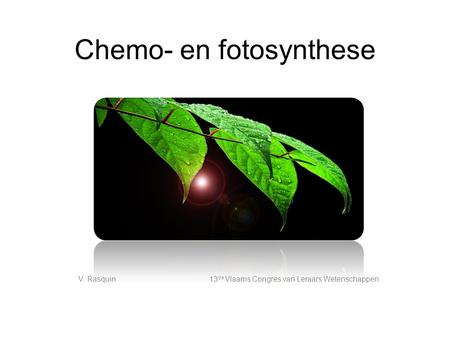 Chemo- en fotosynthese