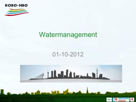 Watermanagement 01-10-2012.