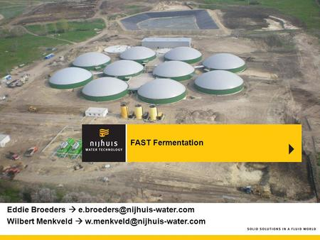 FAST Fermentation 5 mW obv kippenmest sorghum afvalwater slachthuis