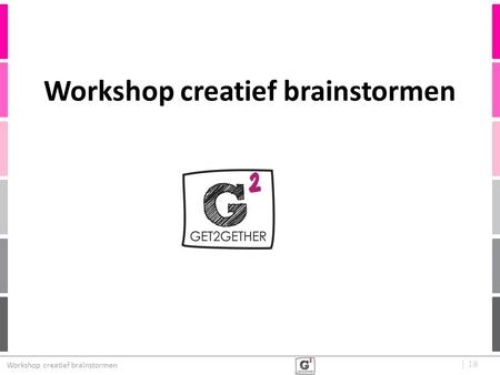 Workshop creatief brainstormen