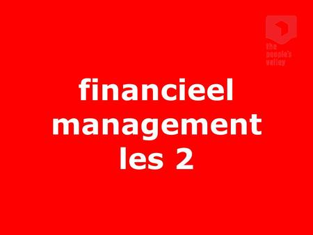 financieel management les 2