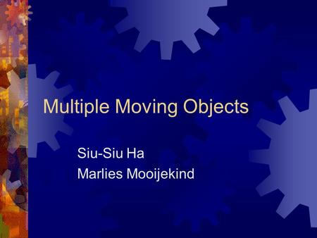 Multiple Moving Objects Siu-Siu Ha Marlies Mooijekind.