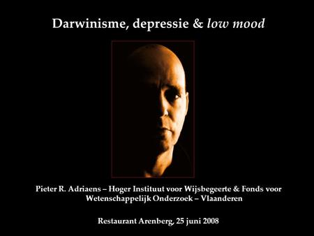 Darwinisme, depressie & low mood