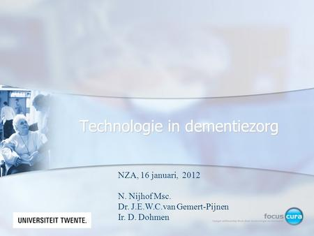 Technologie in dementiezorg