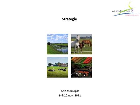 Strategie Arie Meulepas 9 & 10 nov. 2011.