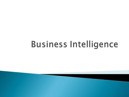 Door G. Blezer CPS Color Business Intelligence IT voor BI Business intelligence Pyramid Ondersteuning IT bij BI stadiums Decision Support Systems Model-driven.