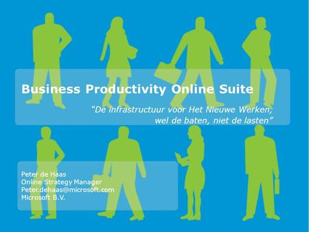Business Productivity Online Suite