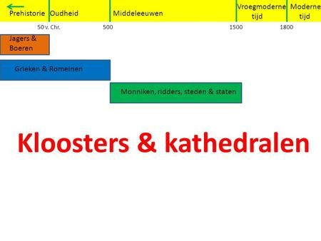 Kloosters & kathedralen