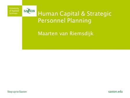 Human Capital & Strategic Personnel Planning