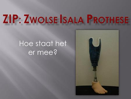 ZIP: Zwolse Isala Prothese