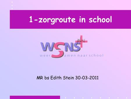 1-zorgroute in school MR bs Edith Stein 30-03-2011.