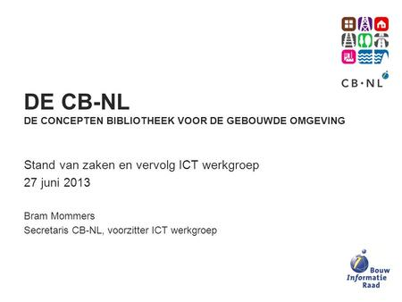 CB-NL concept Library for the built environment - ppt download