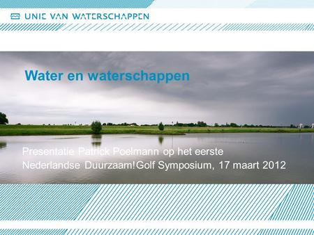 Water en waterschappen