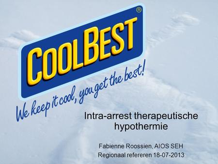 Intra-arrest therapeutische hypothermie