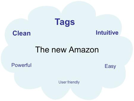 The new Amazon Easy Intuitive Clean Powerful Tags User friendly.
