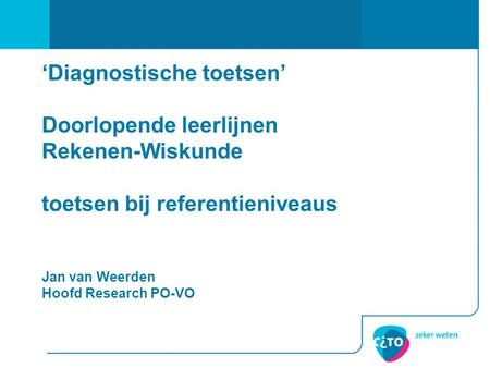 De rekentoets. - ppt video online download