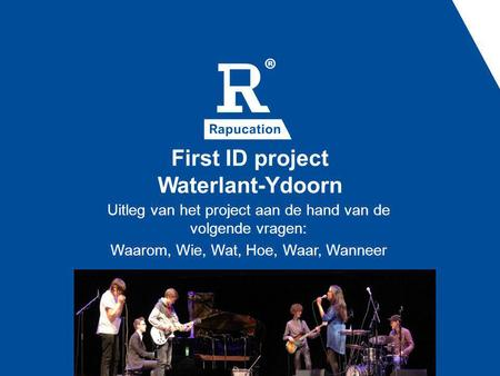 First ID project Waterlant-Ydoorn