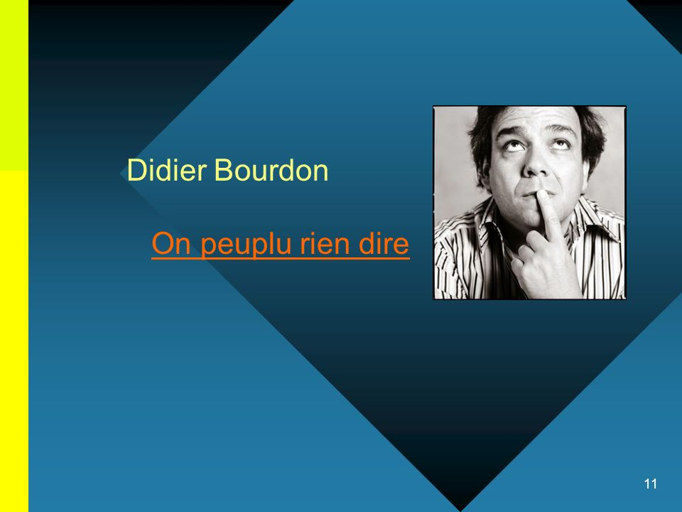 Didier Bourdon On peuplu rien dire