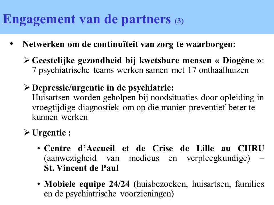 Engagement van de partners (3)