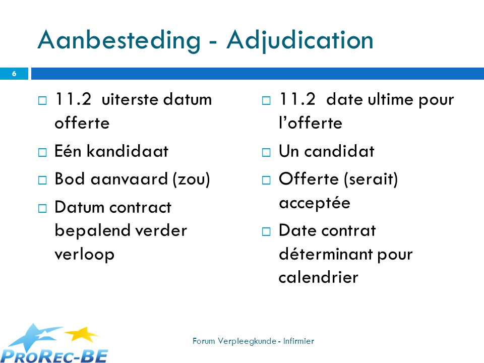 Aanbesteding - Adjudication