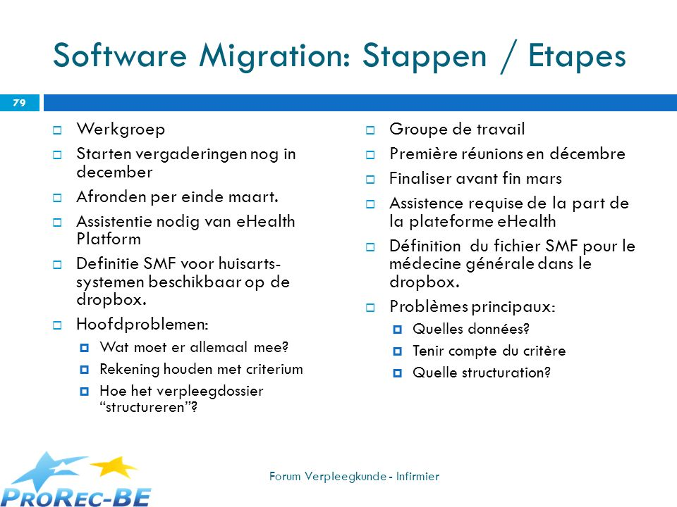 Software Migration: Stappen / Etapes