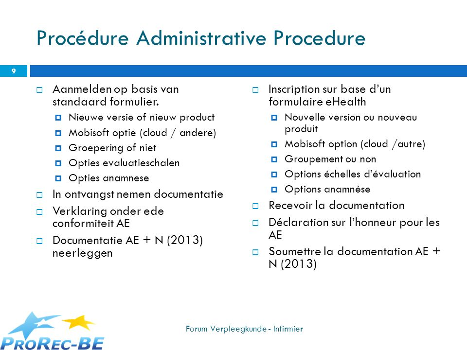 Procédure Administrative Procedure