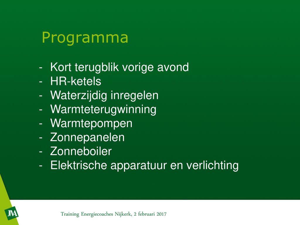 Training energiecoaches Nijkerk - ppt video online download