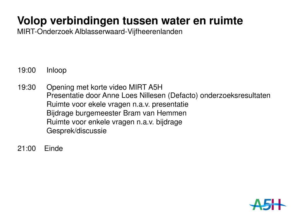 Volop Verbindingen Tussen Water En Ruimte Ppt Download