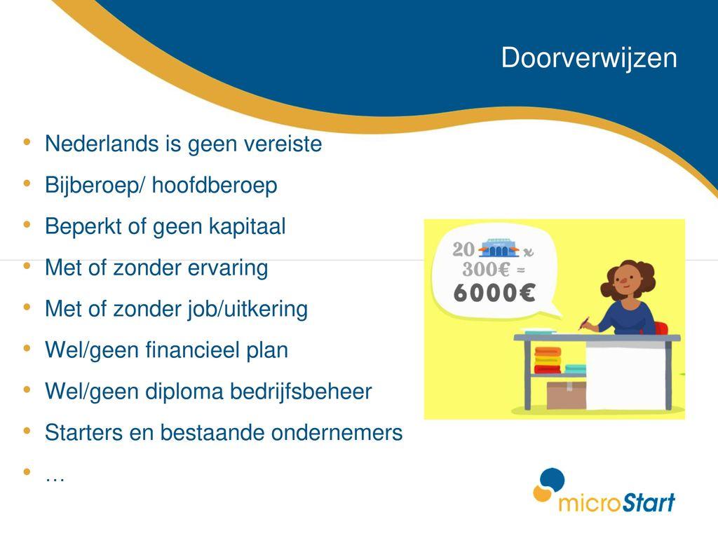 Geen Diploma Wel Ervaring.Microcredit In Belgium Ppt Download