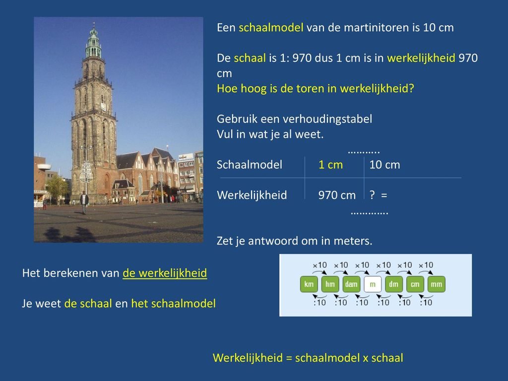 Schaal In Toepassingssituaties Ppt Download