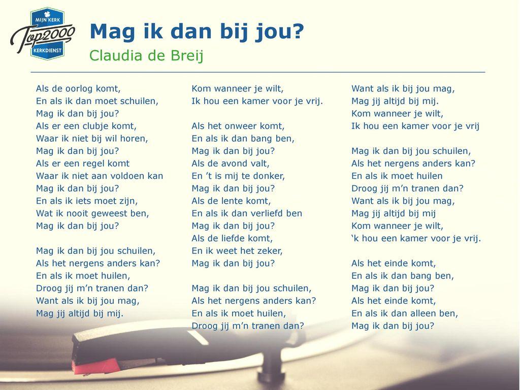 Populair Voorkeur Tekst Claudia De Breij #SPT97 - AgnesWaMu #UE76