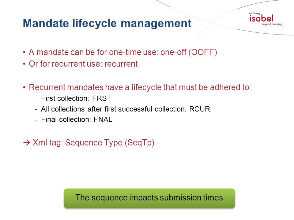 Mandate lifecycle management