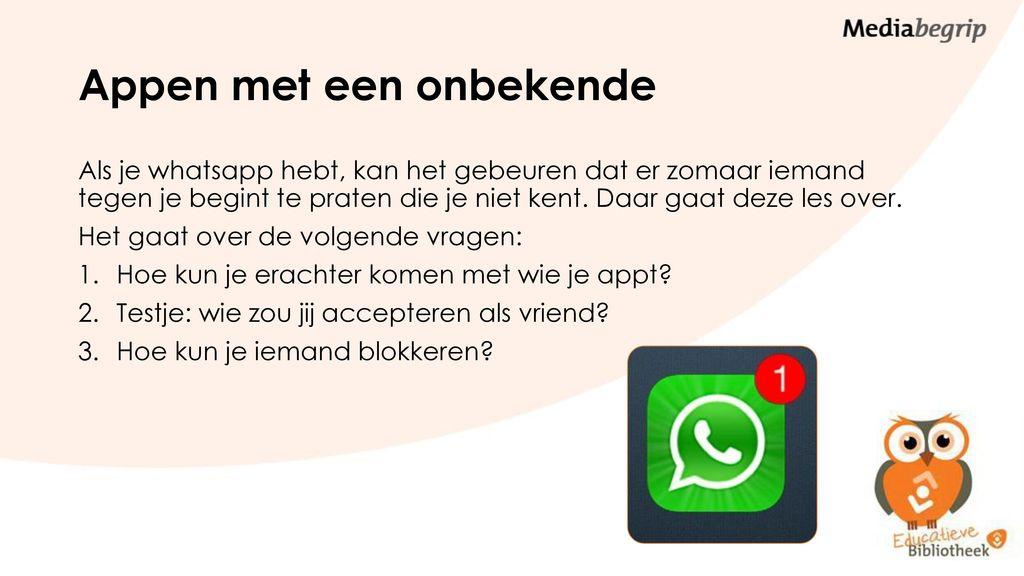 whatsapp iemand blokkeren