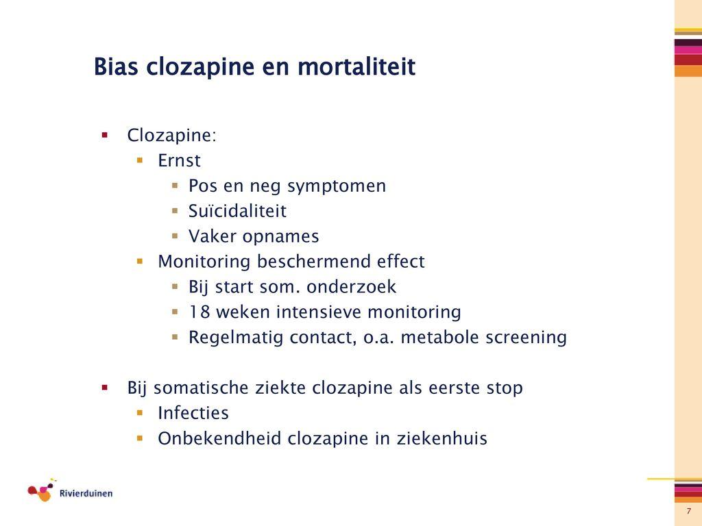 clozapine en mortaliteit - ppt download