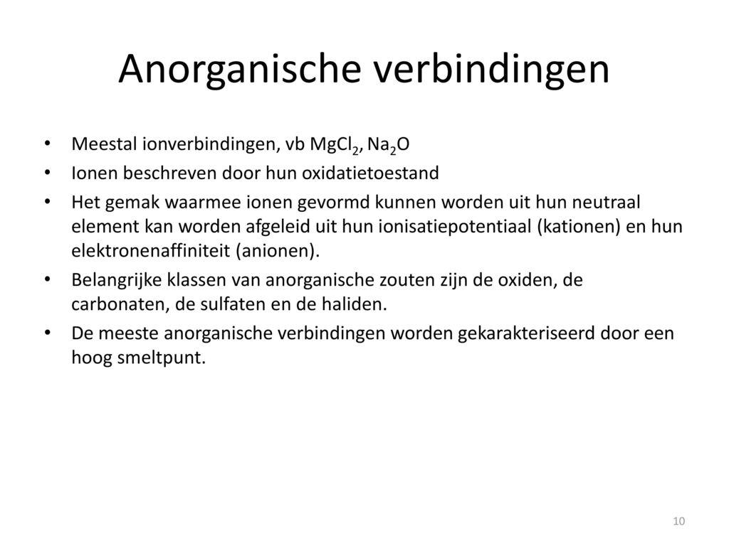 Anorganische Chemie Dr E Vanecht Ppt Download