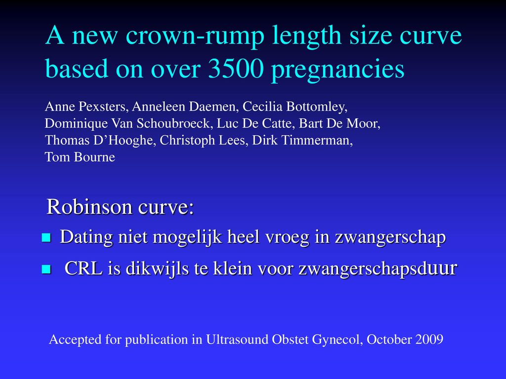 Dating van endometrium PPT