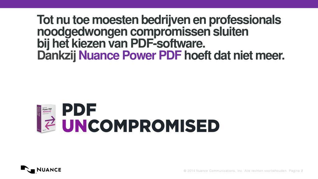 Nuance Power Pdf Voor Bedrijven Ppt Download