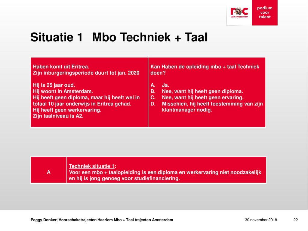 Geen Diploma Wel Ervaring.Mbo Taal Trajecten Amsterdam Ppt Download
