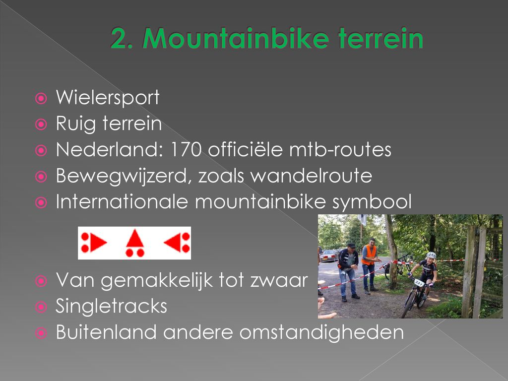 2. Mountainbike terrein Wielersport Ruig terrein